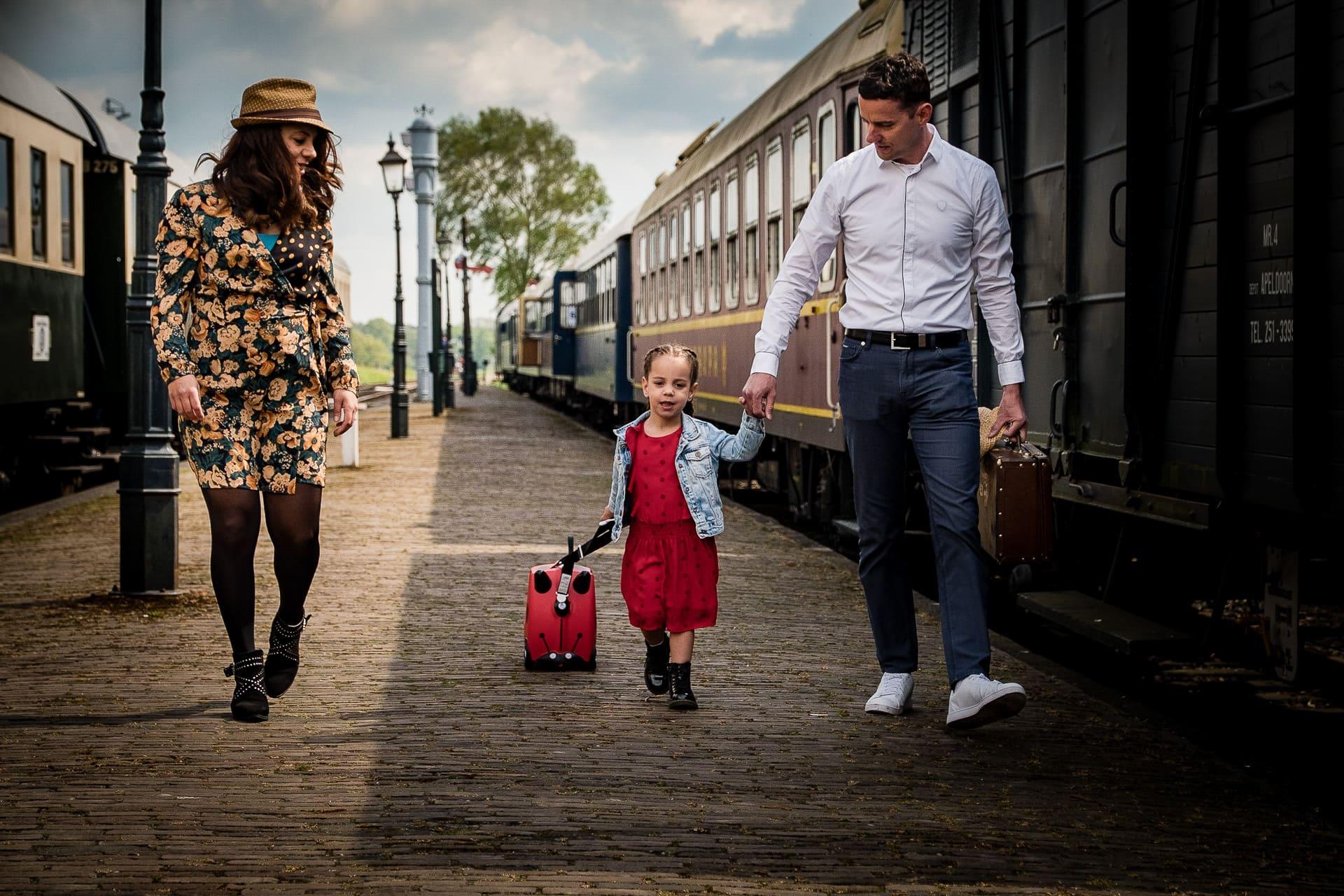 Familie fotografie Klarenbeek Stoomtrein