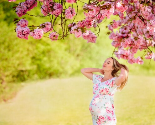38 weken zwanger in de peren bloesem