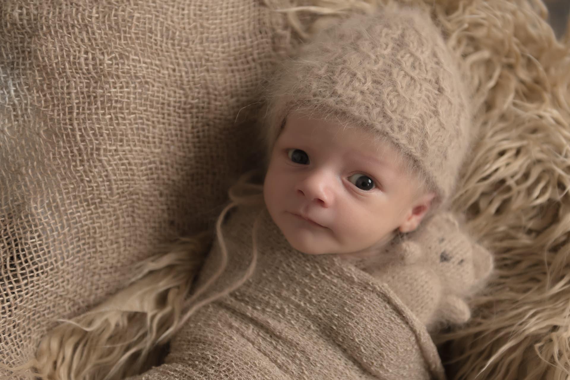 Newborn look at me