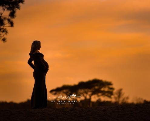 zwangerschapsshoot Soesterduinen