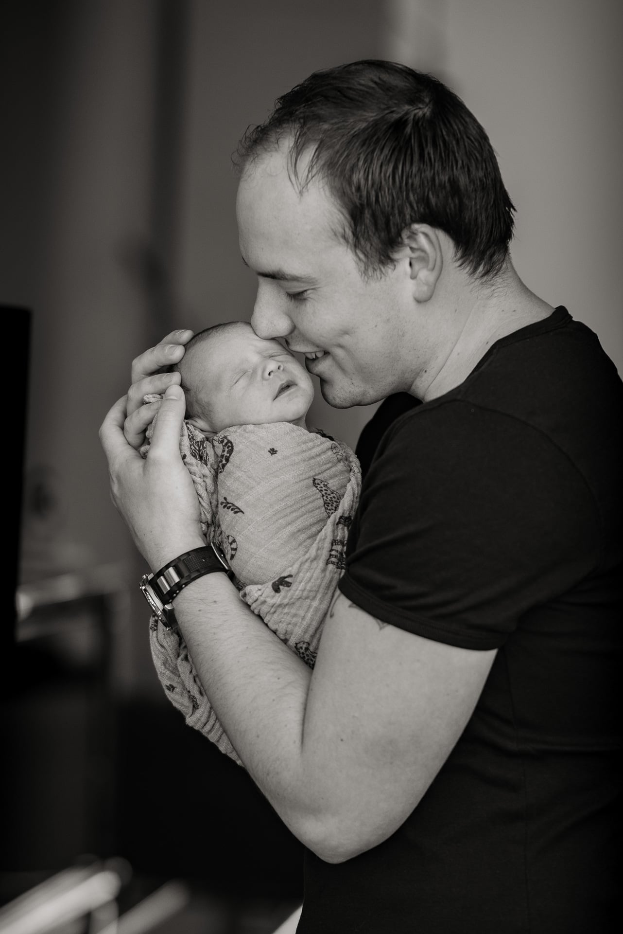 foto vader met baby