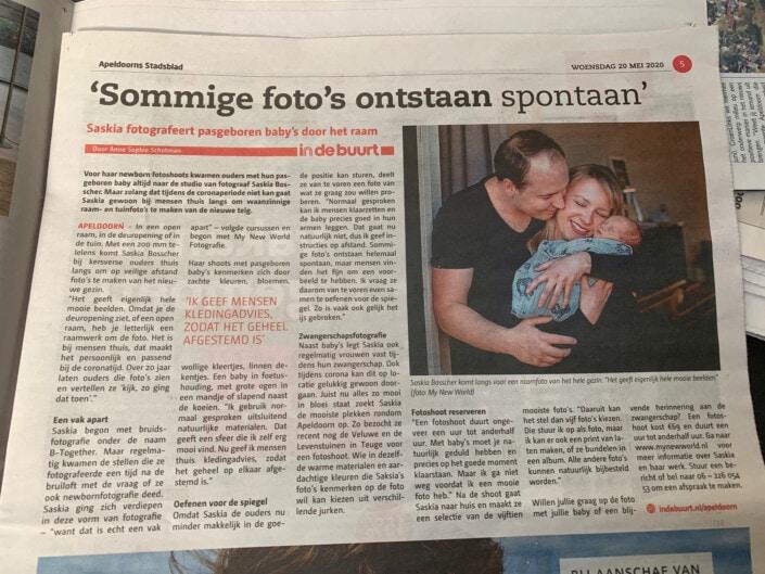 Newborn artikel in Apeldoorns Stadsblad