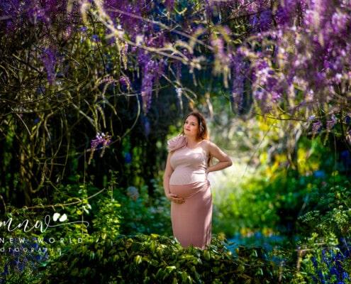 zwangerschap fotoshoot in de levenstuin